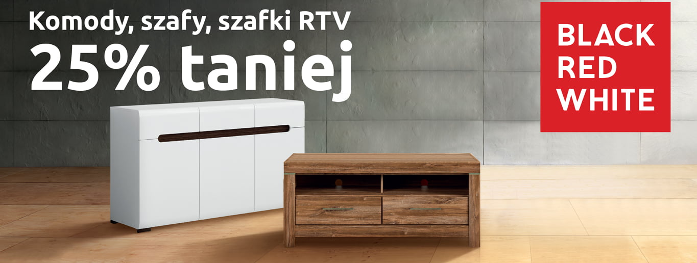 Black Red White - Komody, szafy, szafki RTV do 25% taniej